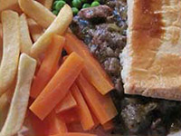 Minty lamb pie